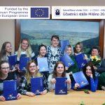 Předávání certifikátů a Europassů stážistům z Milána